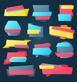 colorful sale banners template set vector image