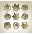 Gears set vector image