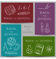 back to school chalky vector image vector image