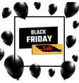 black friday sale banner realistic balloons on vector image vector image