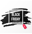 black friday sale poster with black marker vector image