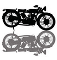 black silhouette a vintage motorcycle vector image
