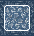 blue and white seamless pattern card vector image