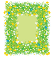 Border of flowers and grass vector image vector image