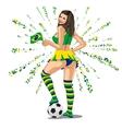 Brasil Soccer Fan vector image vector image