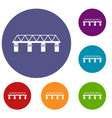 bridge icons set vector image vector image