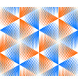 Bright abstract geometric seamless pattern with 3d vector image vector image