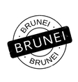 Brunei rubber stamp vector image vector image