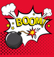 cartoon bomb icon with text vector image vector image