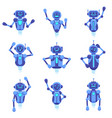 chat bot assistance robotics technology bots vector image vector image