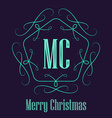 Christmas decorative retro badge Elegant hipster vector image vector image