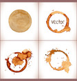 coffee stain on a white background vector image vector image