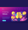creating ideas concept landing page vector image
