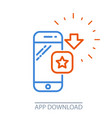 download smartphone app - mobile application vector image vector image