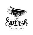 eyelash extension logo vector image vector image