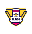 Flash lightning logo template company identity