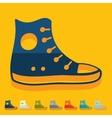 Flat design gumshoes vector image vector image