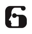 g g logo logotype - english font upper case letter vector image vector image
