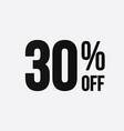 golden 30 percent off flat cartoon style vector image vector image