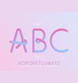 grade 2 font alphabet vector image vector image