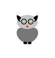 Grey owl- bird of prey vector image vector image