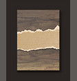 grunge paper on wooden wall design vector image