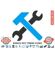 Hammer And Wrench Flat Icon With 2017 Bonus Trend vector image vector image