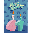 Happy birthday card with 41th birthday vector image vector image