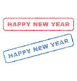 happy new year textile stamps vector image vector image