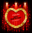happy valentines day flyer or poster vector image vector image