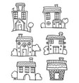 house set with hand draw vector image vector image