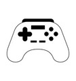 joystick icon cartoon in black and white vector image vector image