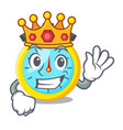 king cartoon stopwatch on for the race vector image