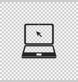 laptop with cursor icon isolated vector image vector image