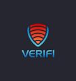 letter v shield logo icon on dark background vector image vector image