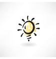 light bulb grunge icon vector image vector image