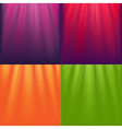 Lights Backgrounds Set vector image vector image