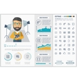 Media flat design Infographic Template vector image vector image