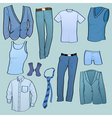 men clothes vector image vector image