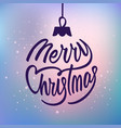 merry christmas holiday card with lettering vector image vector image