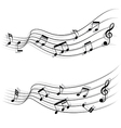 Musical chords flow like stream and shadow vector image vector image