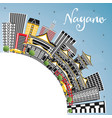 nagano japan city skyline with color buildings vector image vector image
