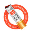 no tobacco day stop smoking isolated icon vector image