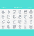 outline icon set - hotel service vector image vector image