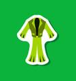 paper sticker fashion clothes men suit vector image vector image