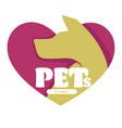pets clinic vet hospital dog head isolated icon vector image