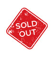 red sold out rubber stamp isolated vector image