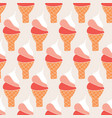 retro ice cream cones seamless pattern vector image