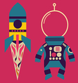 Rocket and astronaut costume vector image