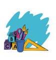 school supplies and elements vector image vector image